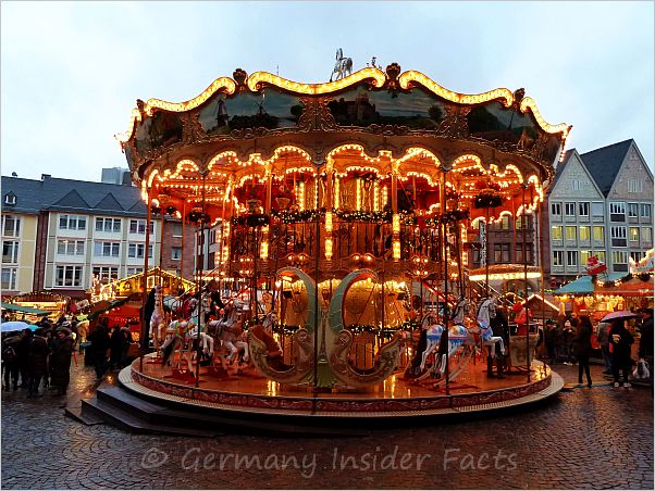 merry-go-round on a xmas market