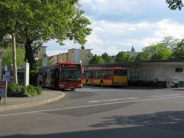 View to the main bus hub at Freiheitsplatz