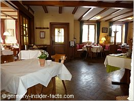 a cosy gaststube in a pension