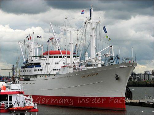 big ship in hamburg