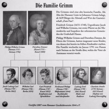 grimm brothers family