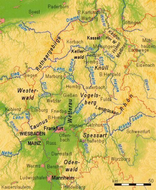hessen germany map
