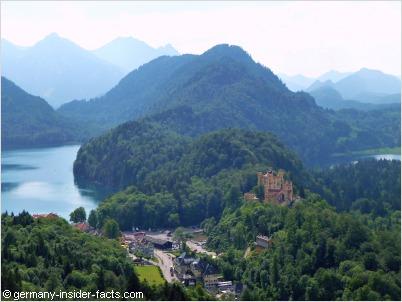 hohenschwangau castle panorama