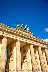 close-up of Brandenburg Gate and Quadriga