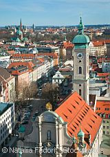 view of munich with frauenkirche