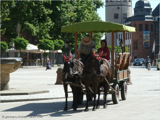 horse carriage for tourists in speyer