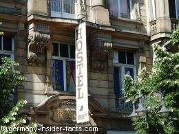 close-up of the facade
