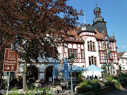 old town hall in beautiful scenery