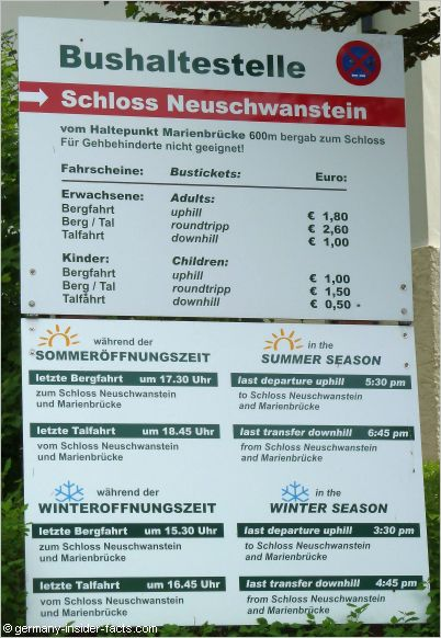 neuschwanstein bus timetable
