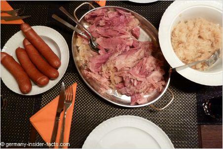 sauerkraut sausages rippchen