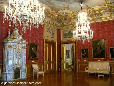 The bel-etage of Schloss Philippsruhe