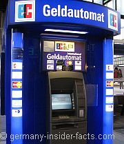 You Can Get Money From A Geldautomat Atm Automated Teller Machine At Major Train Stations Airports Large Ping Centres And In Outside Banks