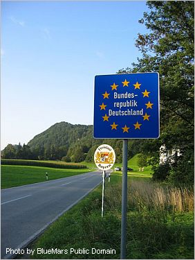 Green border between Austria and Germany