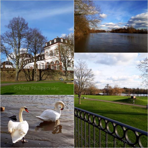 Schloss Philippsruhe and the river scenery in Hanau