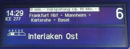 German train schedules