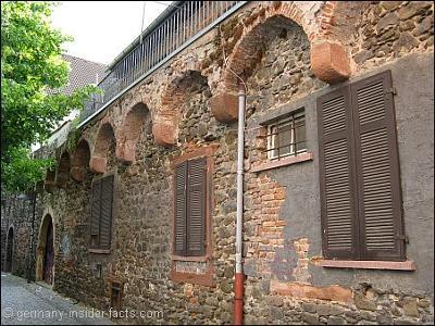 Old city wall in Hanau