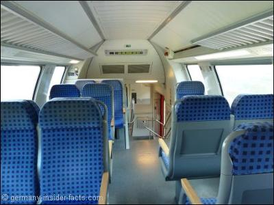 Inside a regional express train