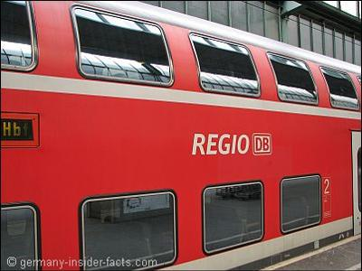 Regional train in Germany