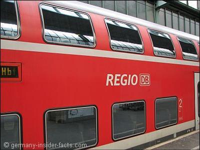 Regional train in Germany