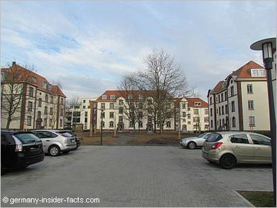 Apartment blocks at former Yorkhof Kaserne March 2013